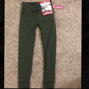 Pants - Fleece lined army green athletic pants